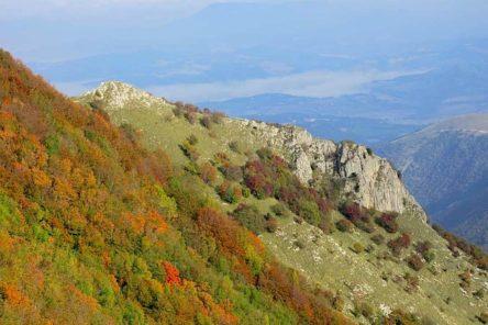AUTUNNO MARCHIGIANO tra boschi colorati, un antico monastero e una grande montagna (Monte Catria – PU)