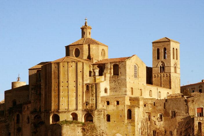 L'abside della cattedrale di Irsina